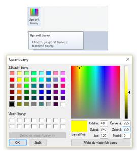 Paleta barev - malování